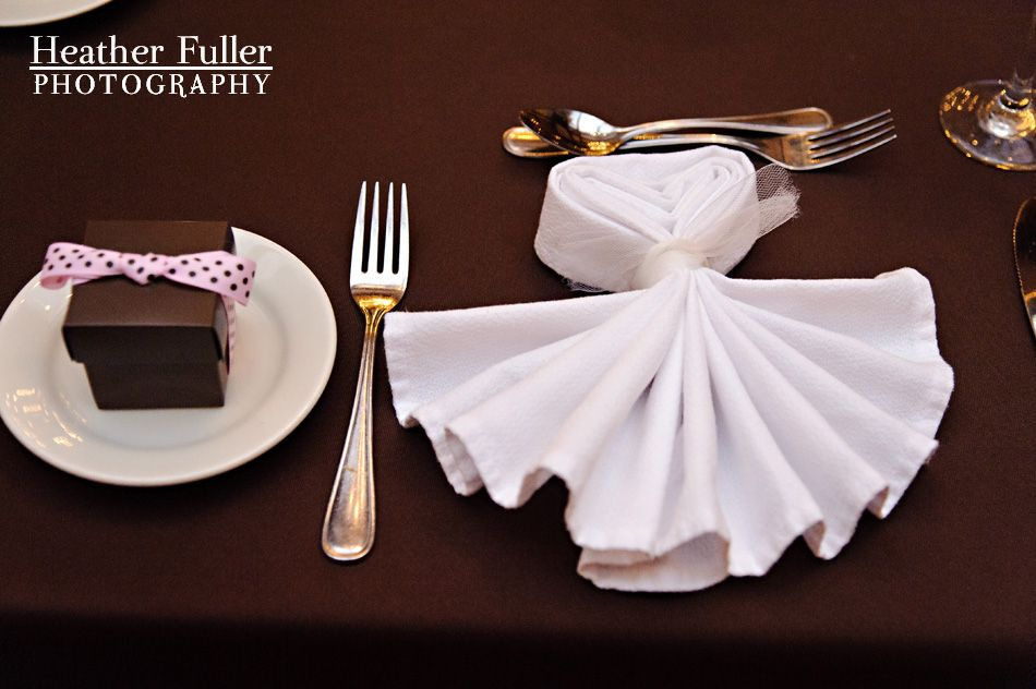Wedding Napkin Folding On Pinterest