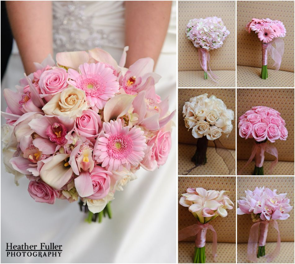 Heather fuller photography central ma wedding photography wedding bouquet pink and white inspiration roses orchids izmirmasajfo