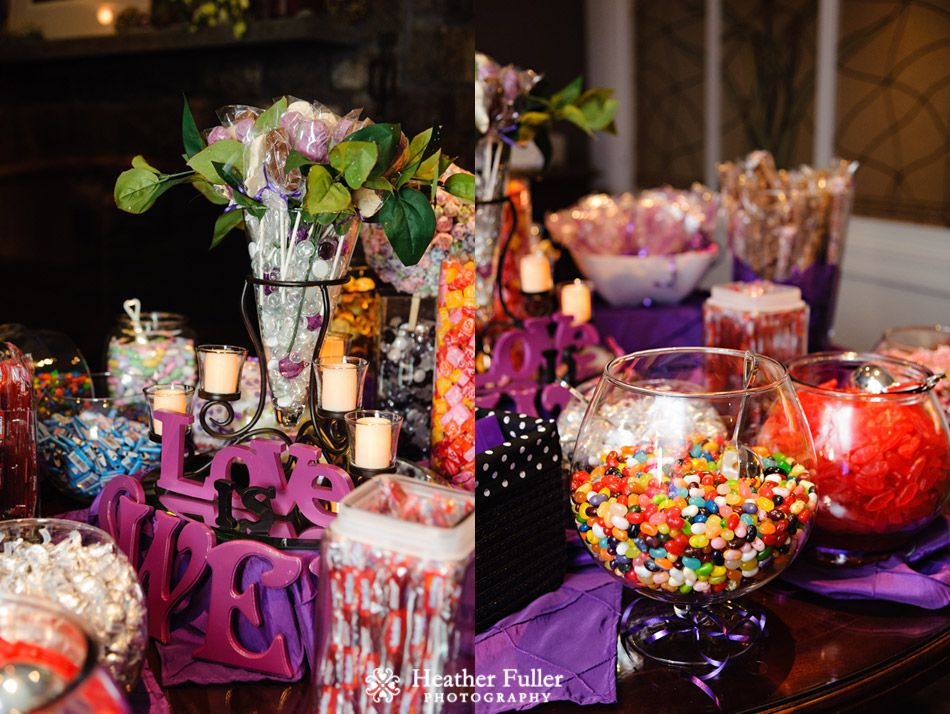 Shannon anthony s wedding at independence harbor for Candy bar for weddings receptions