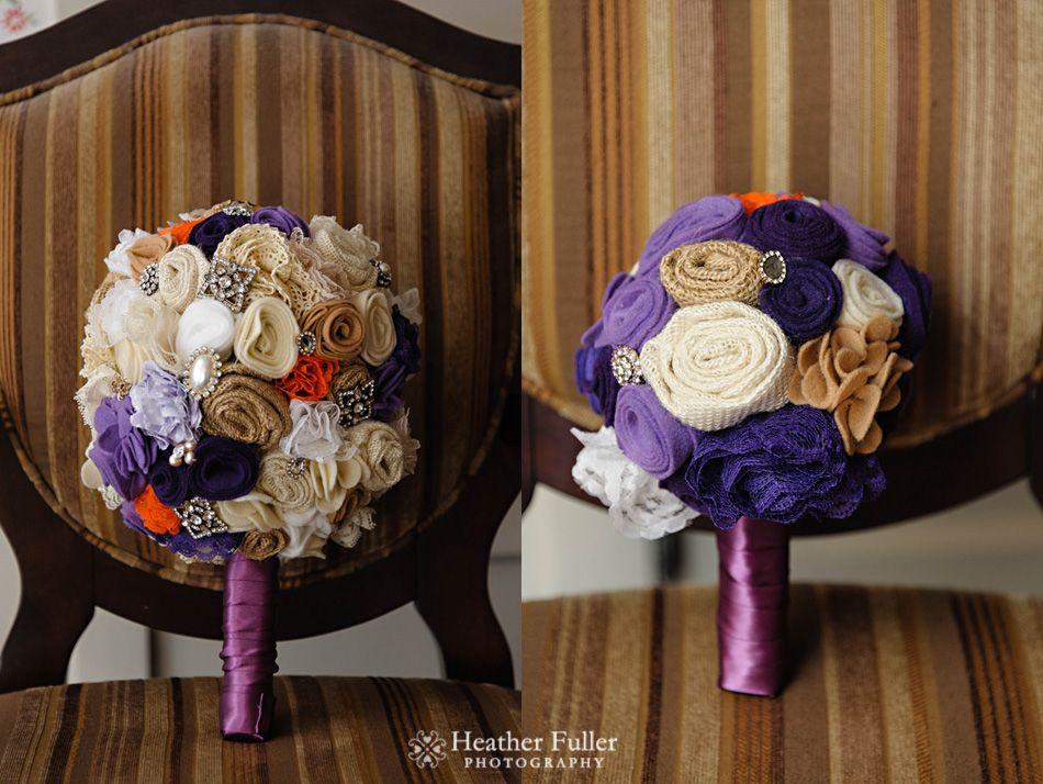Fabric Flower Wedding Bouquet Tutorial Vintage Inspired Fabric